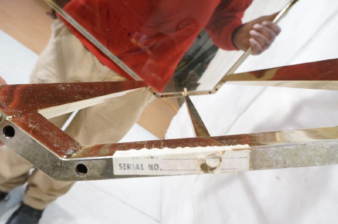 Pr Octagonal Beveled Glass & Brass End Side Table - 8