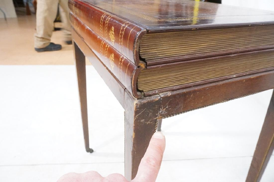 Pr Decorator Leather Faux Book Side Tables. Top c - 9