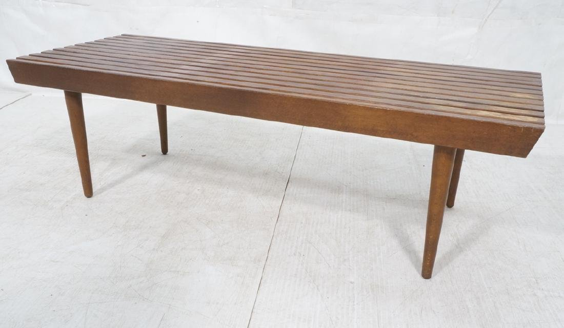 Modernist Slat Bench Coffee Table.