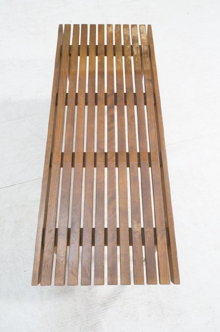 Modernist Slat Bench Coffee Table. - 4
