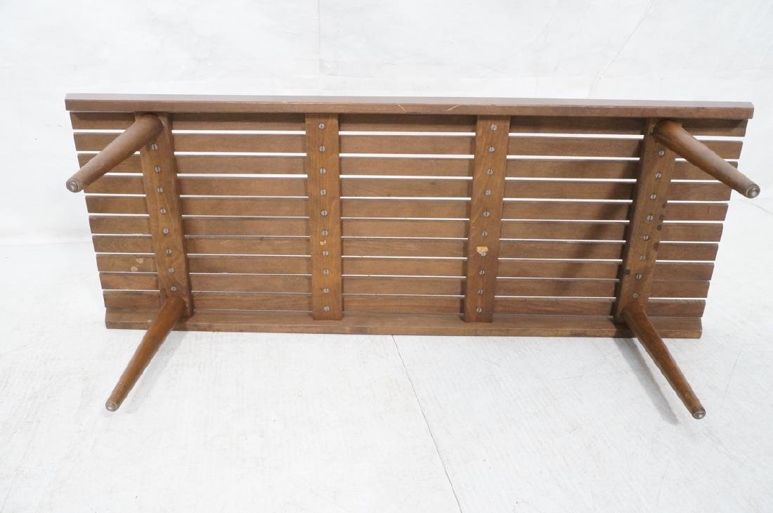 Modernist Slat Bench Coffee Table. - 8