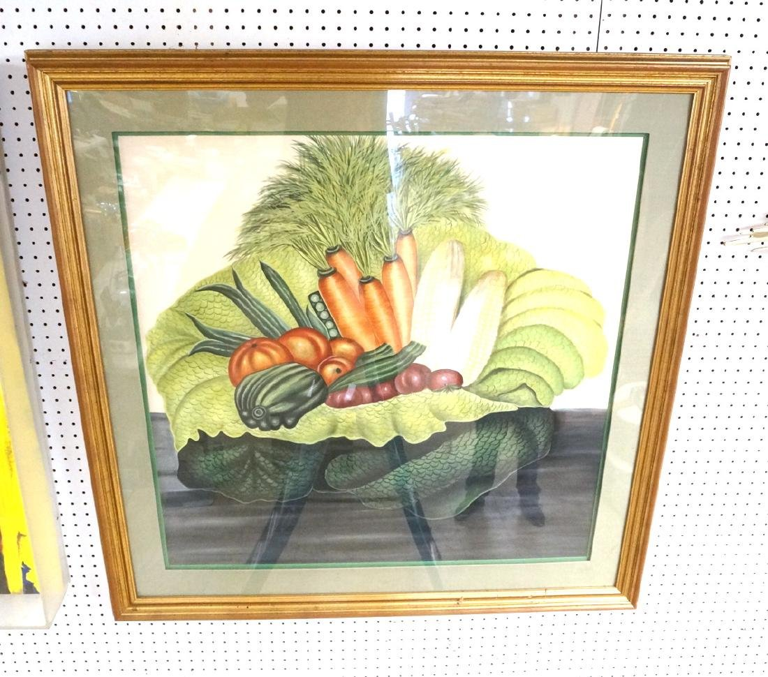 Colorful Large Vegetable Still Life Painting.