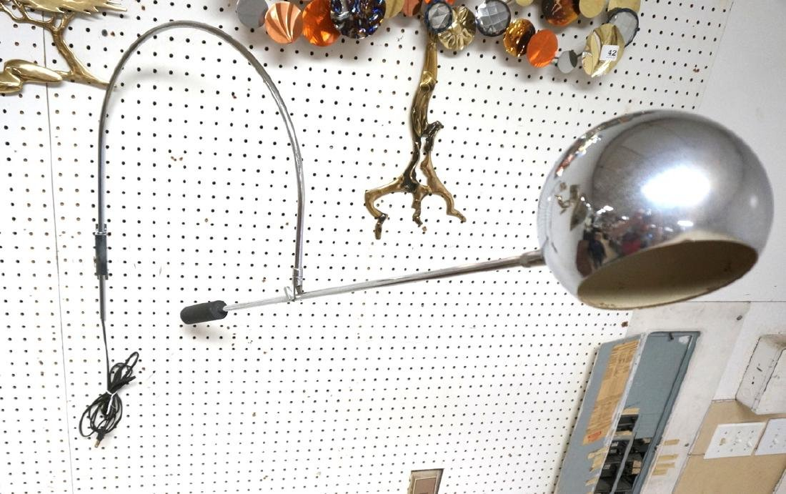 ROBERT SONNEMAN Style Chrome Ball Wall Sconce. Ar