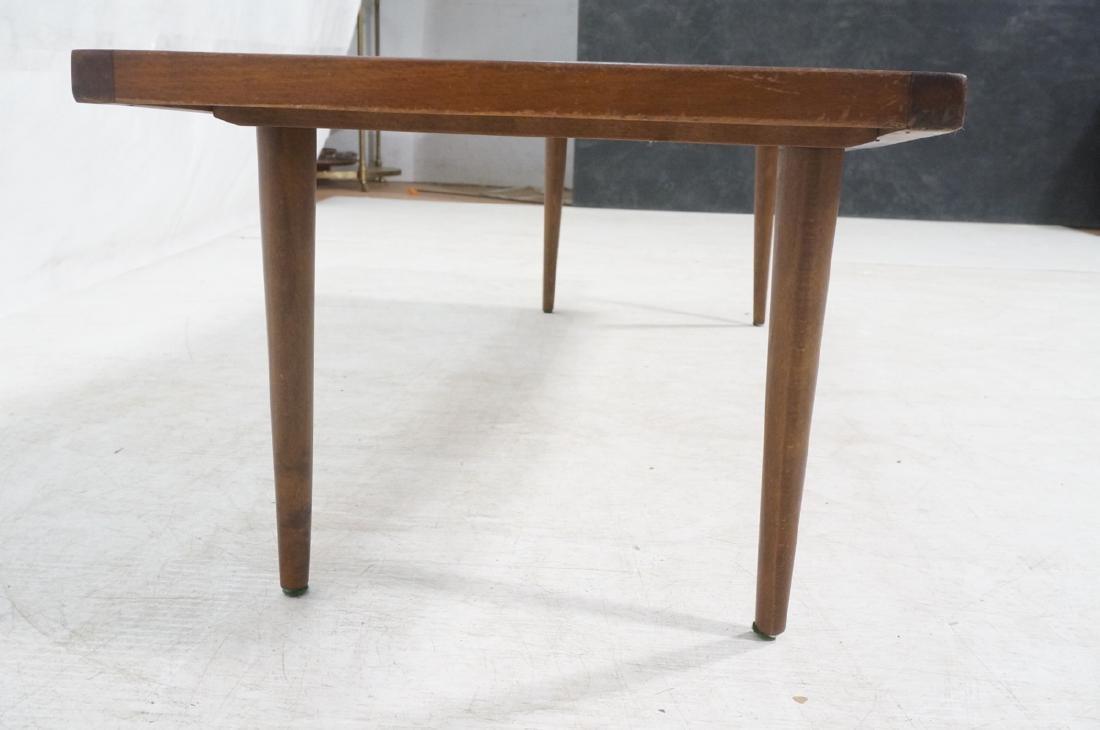 Dark Wood Modernist Slat Bench Coffee Table. Narr - 4