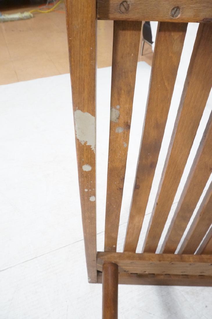 Dark Wood Modernist Slat Bench Coffee Table. Narr - 9