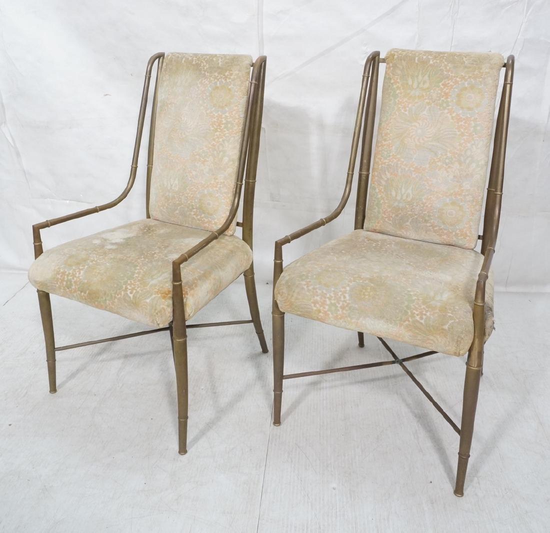 Pr Bronze Finish MASTERCRAFT  Dining Chairs. Bras
