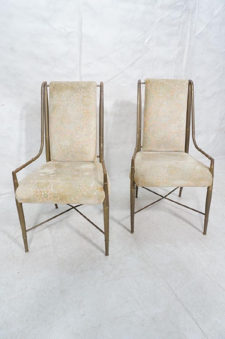 Pr Bronze Finish MASTERCRAFT  Dining Chairs. Bras - 2