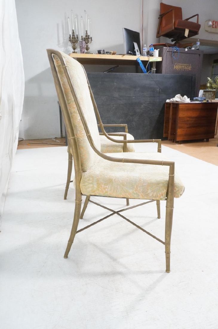 Pr Bronze Finish MASTERCRAFT  Dining Chairs. Bras - 3