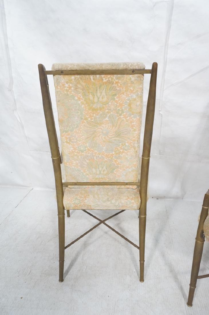 Pr Bronze Finish MASTERCRAFT  Dining Chairs. Bras - 4