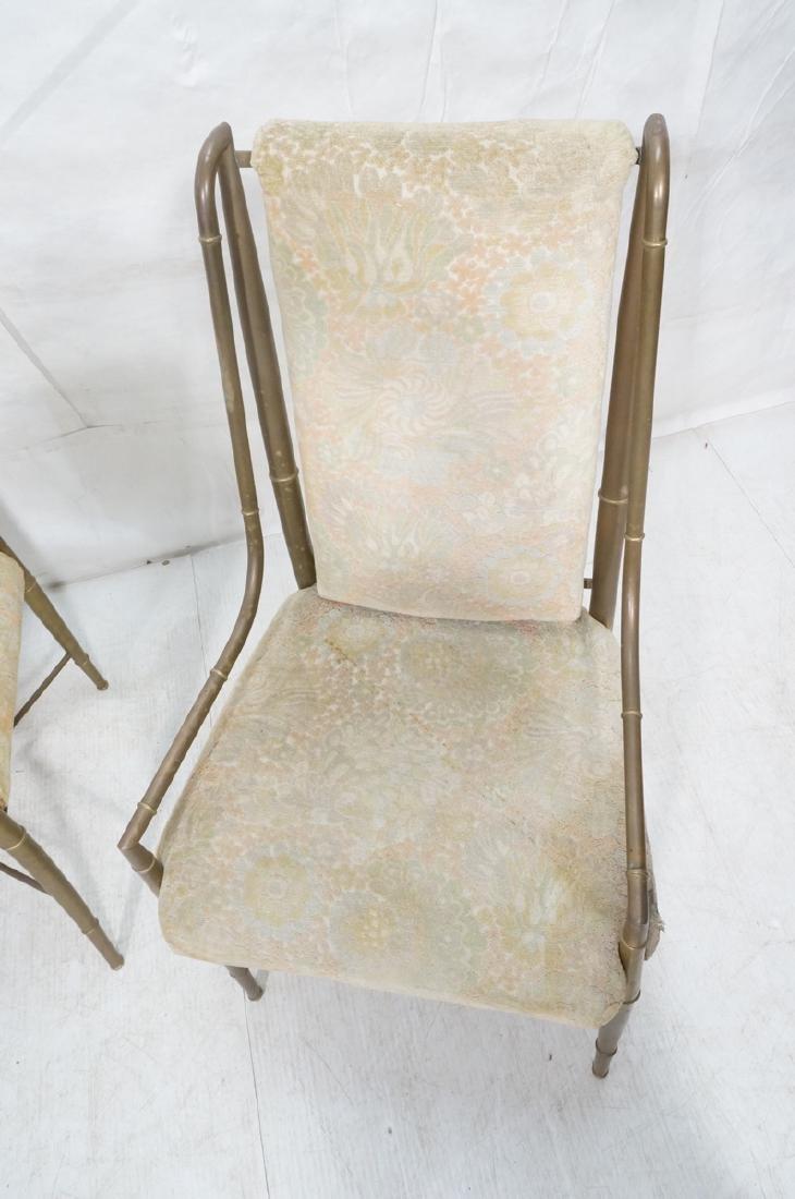 Pr Bronze Finish MASTERCRAFT  Dining Chairs. Bras - 5