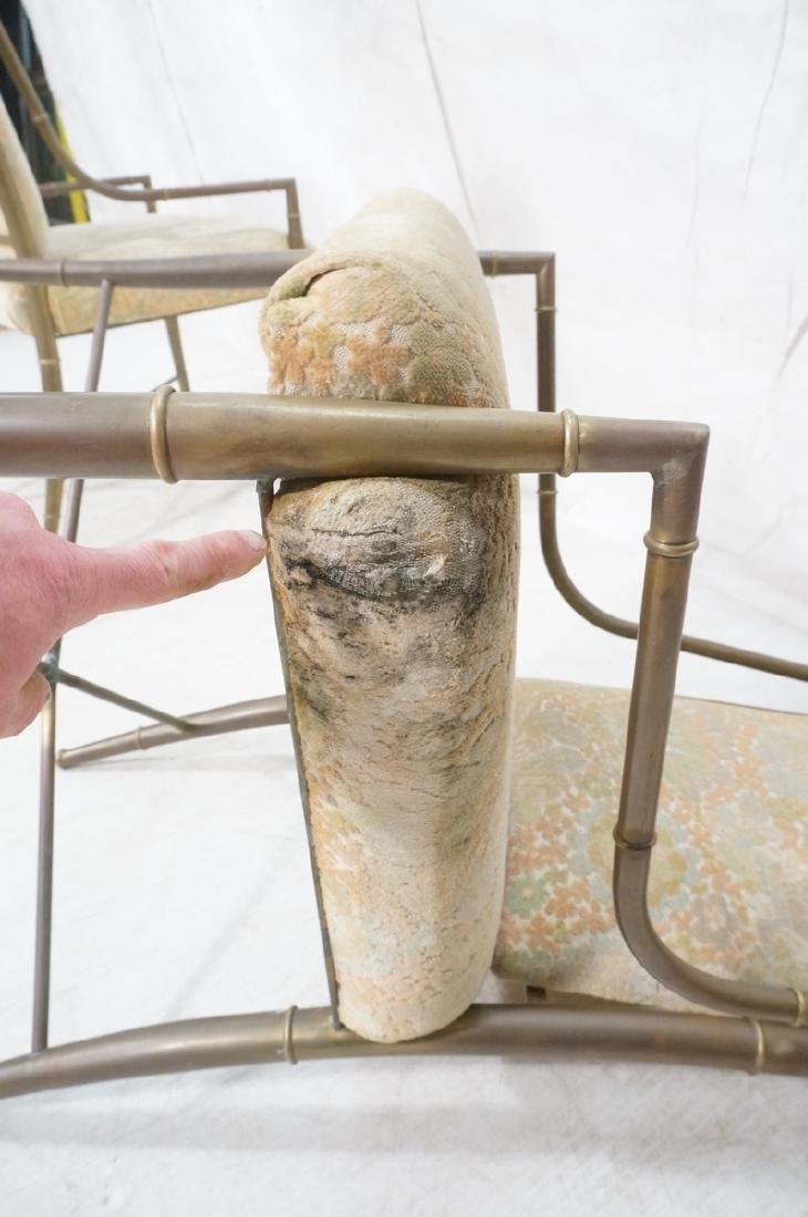 Pr Bronze Finish MASTERCRAFT  Dining Chairs. Bras - 8