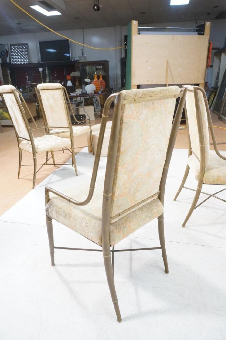 Pr Bronze Finish MASTERCRAFT  Dining Chairs. Bras - 9