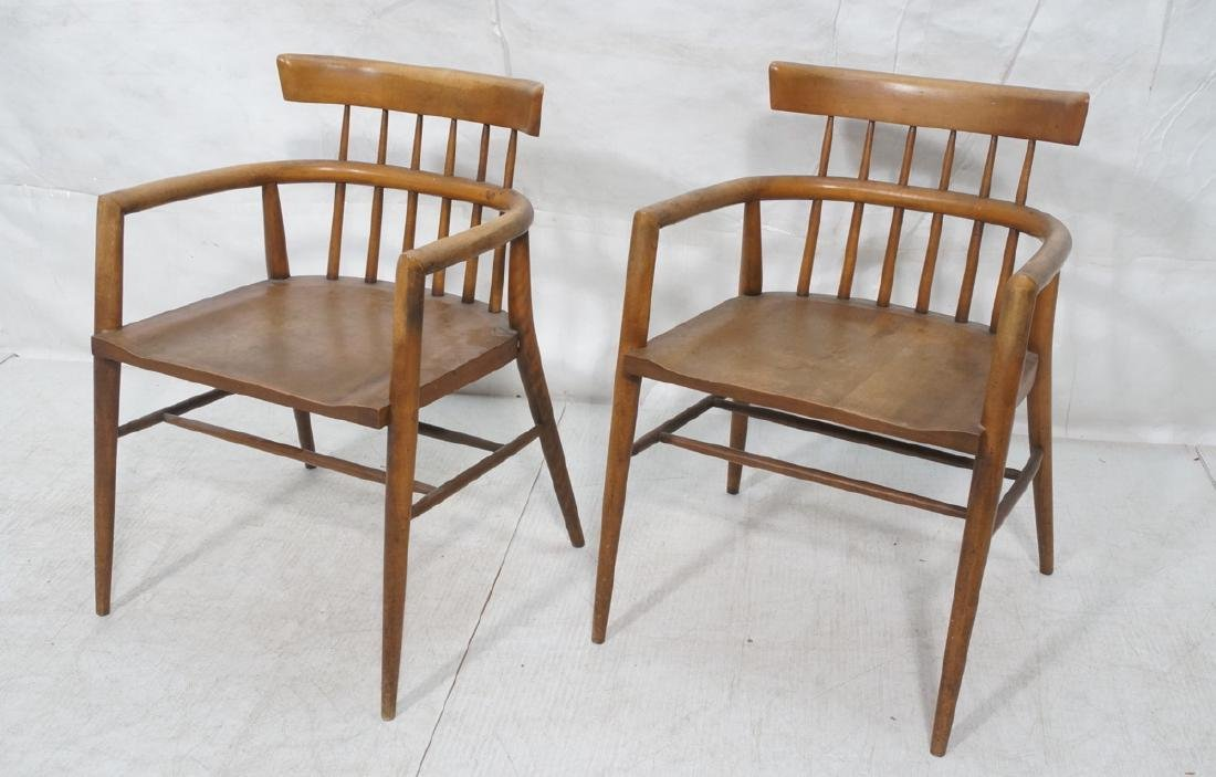Pr PAUL MCCOBB Maple Captains Chairs. American Mo