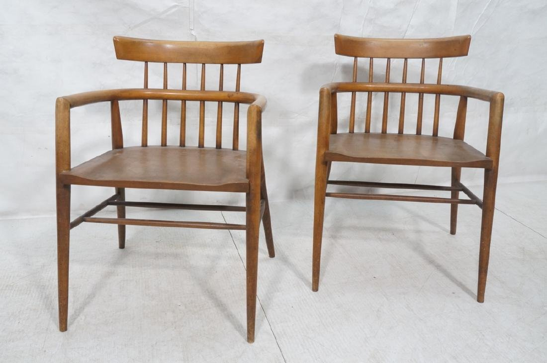 Pr PAUL MCCOBB Maple Captains Chairs. American Mo - 2