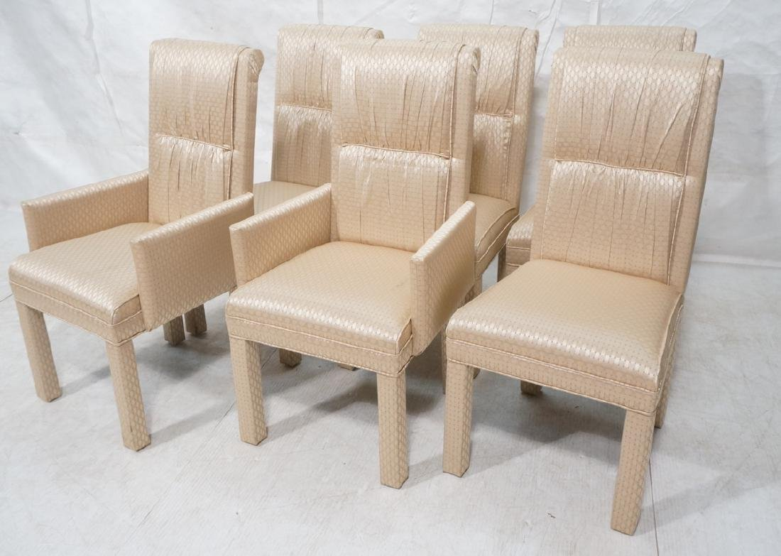 Set 6 Fully Upholstered Contemporary Dining Chair