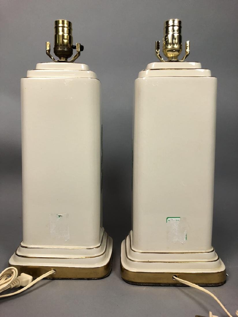 Pair Decorator Fornasetti Table Lamps.  Decorated - 4