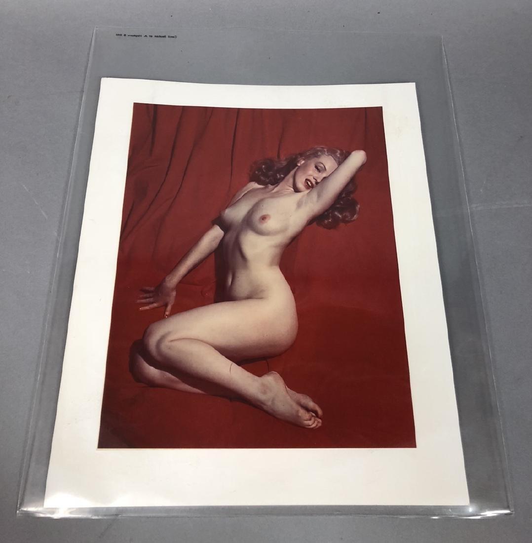 Marilyn Monroe Red Velvet Photograph.  Color C Pr