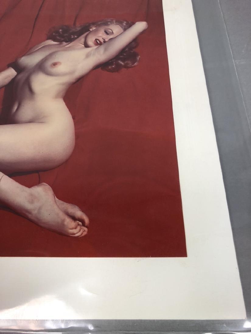 Marilyn Monroe Red Velvet Photograph.  Color C Pr - 5