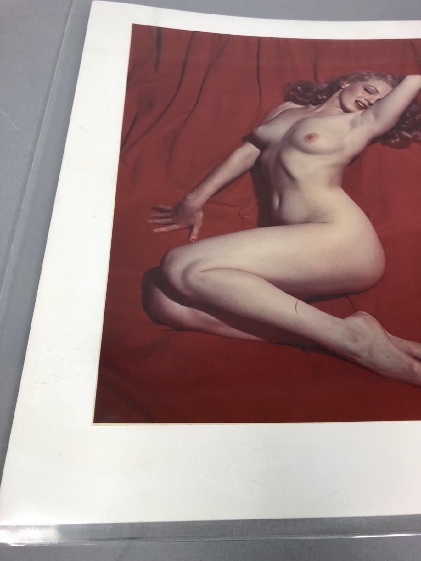 Marilyn Monroe Red Velvet Photograph.  Color C Pr - 6
