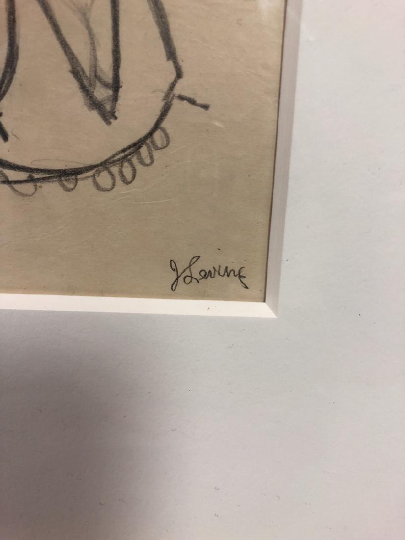 2 Small Jack Levine Drawings.   Framed under glas - 10