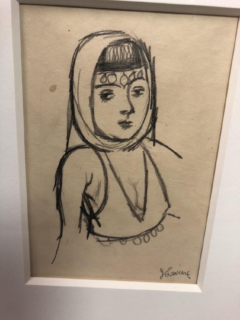 2 Small Jack Levine Drawings.   Framed under glas - 9