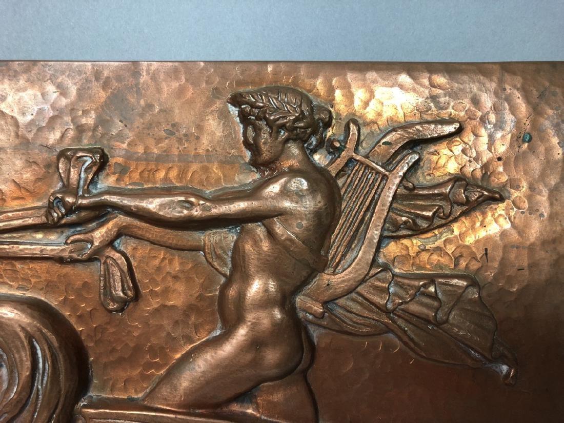 MASIO 44 Art Deco Copper Plaque of Chariot. - 7