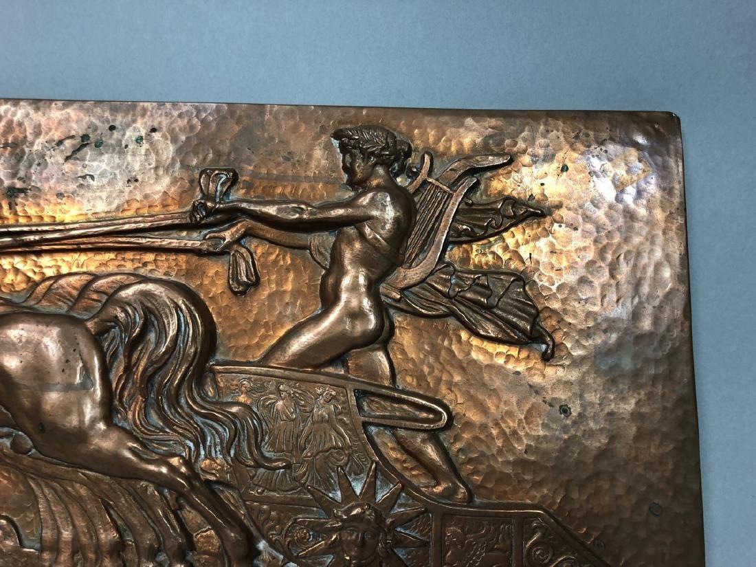 MASIO 44 Art Deco Copper Plaque of Chariot. - 8