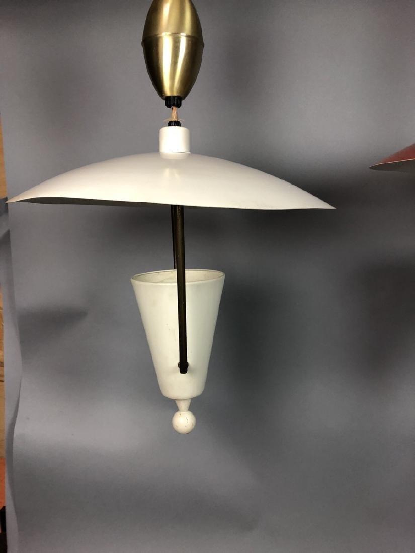 2pcs Vintage Italian Style Hanging Lamps.  Enamel - 10