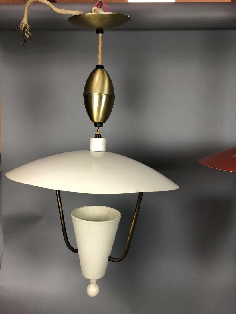 2pcs Vintage Italian Style Hanging Lamps.  Enamel - 5