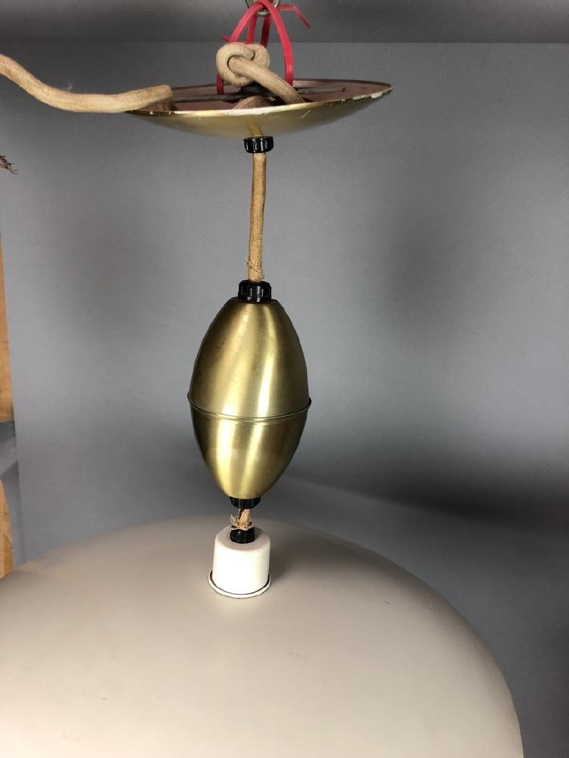 2pcs Vintage Italian Style Hanging Lamps.  Enamel - 6