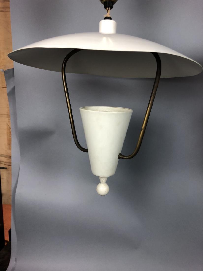 2pcs Vintage Italian Style Hanging Lamps.  Enamel - 9