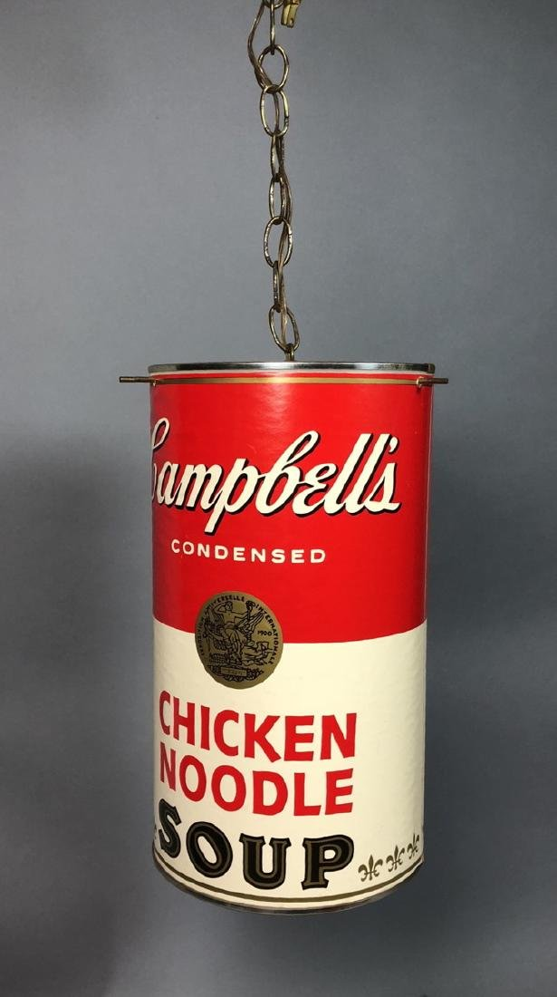 Campbell's Soup Hanging Pendent light. Chicken No