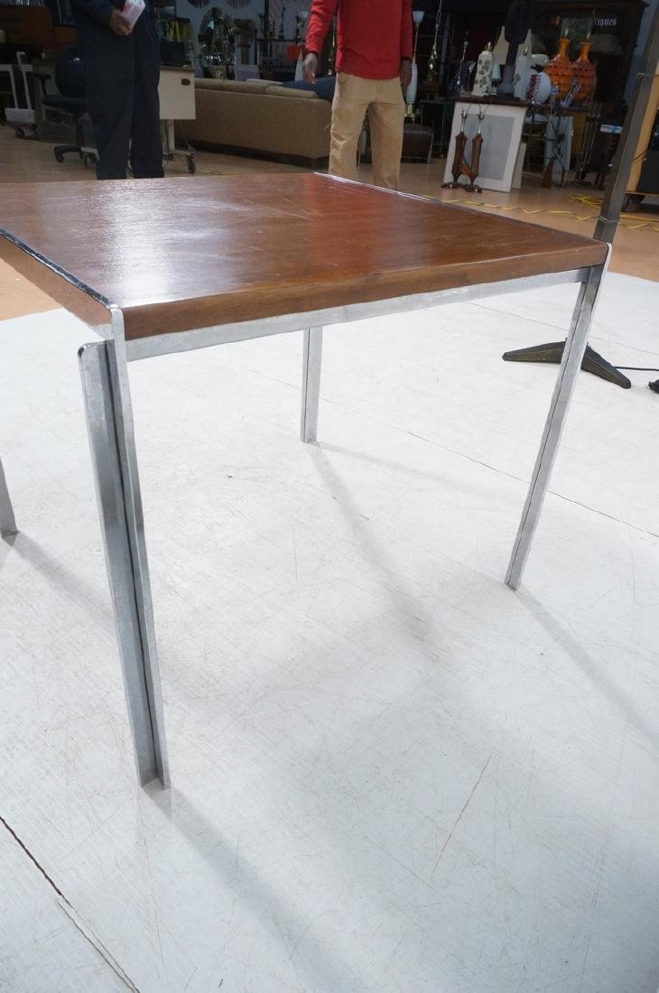 Stow,Davis Occasional Side Table. Walnut top with - 4