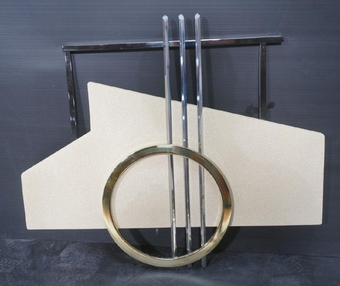 90s DIA  C. JERE Style Mixed Metal Wall Sculpture