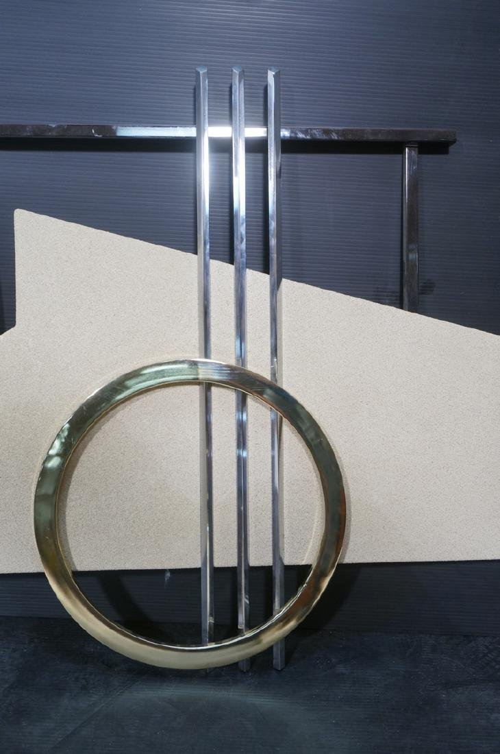 90s DIA  C. JERE Style Mixed Metal Wall Sculpture - 3