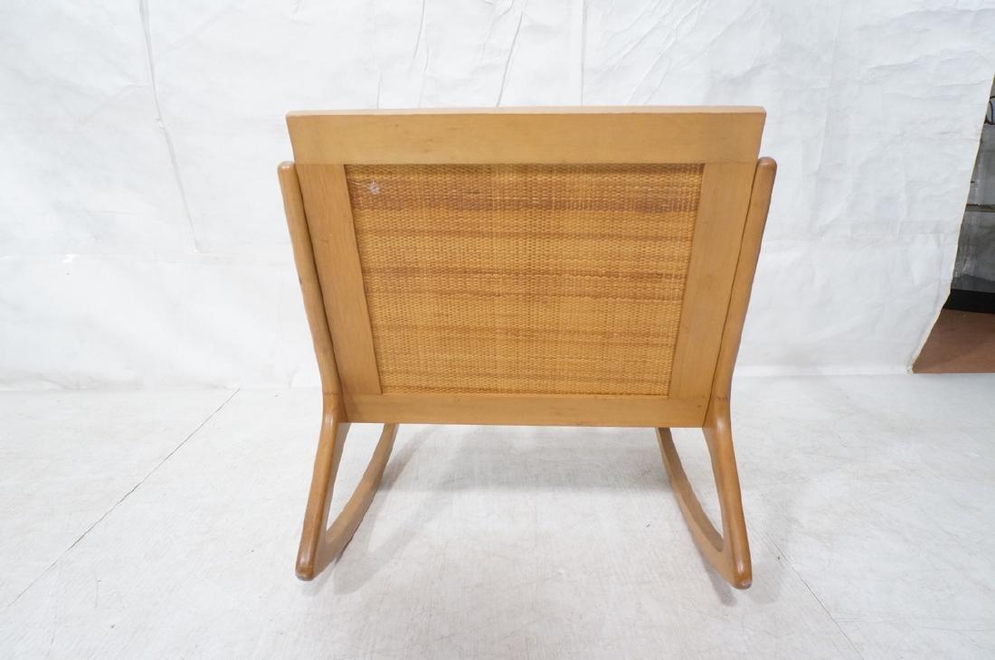 Modernist Wood Frame Rocker Rocking Chair Woven R - 4