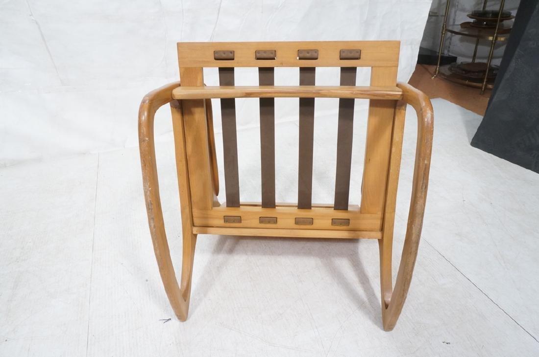 Modernist Wood Frame Rocker Rocking Chair Woven R - 7