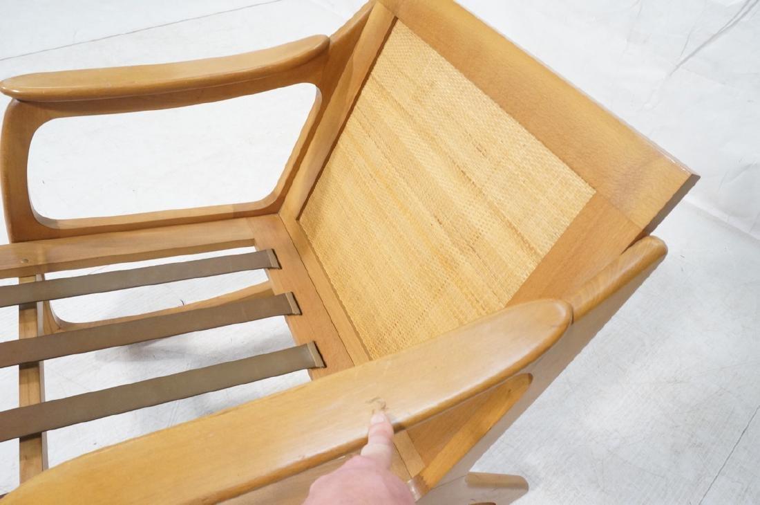 Modernist Wood Frame Rocker Rocking Chair Woven R - 8