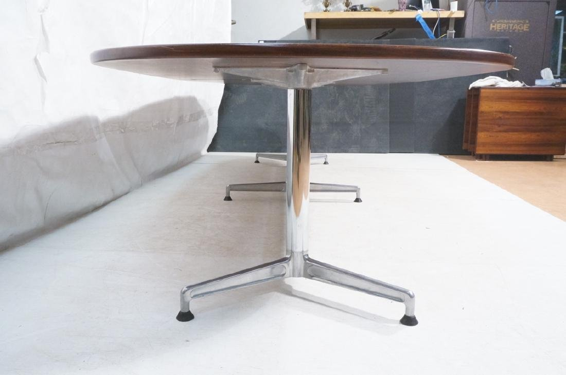 Lg Dark Wood Conference Office Table. HERMAN MILL - 5
