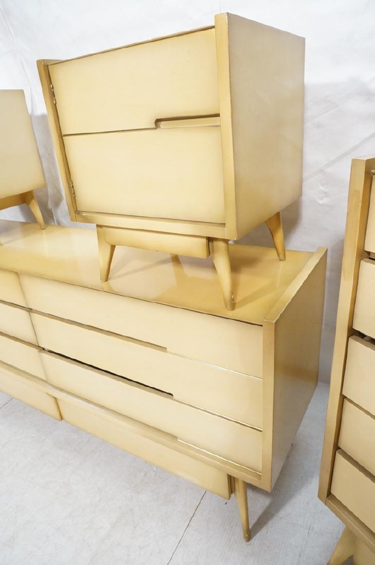 4pc Blond Mahogany Italian Style Bedroom Set. 2 n - 4