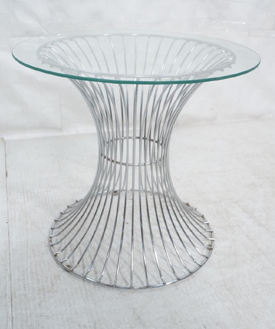 WARREN PLATNER inspired Glass Top Side Table. Cor