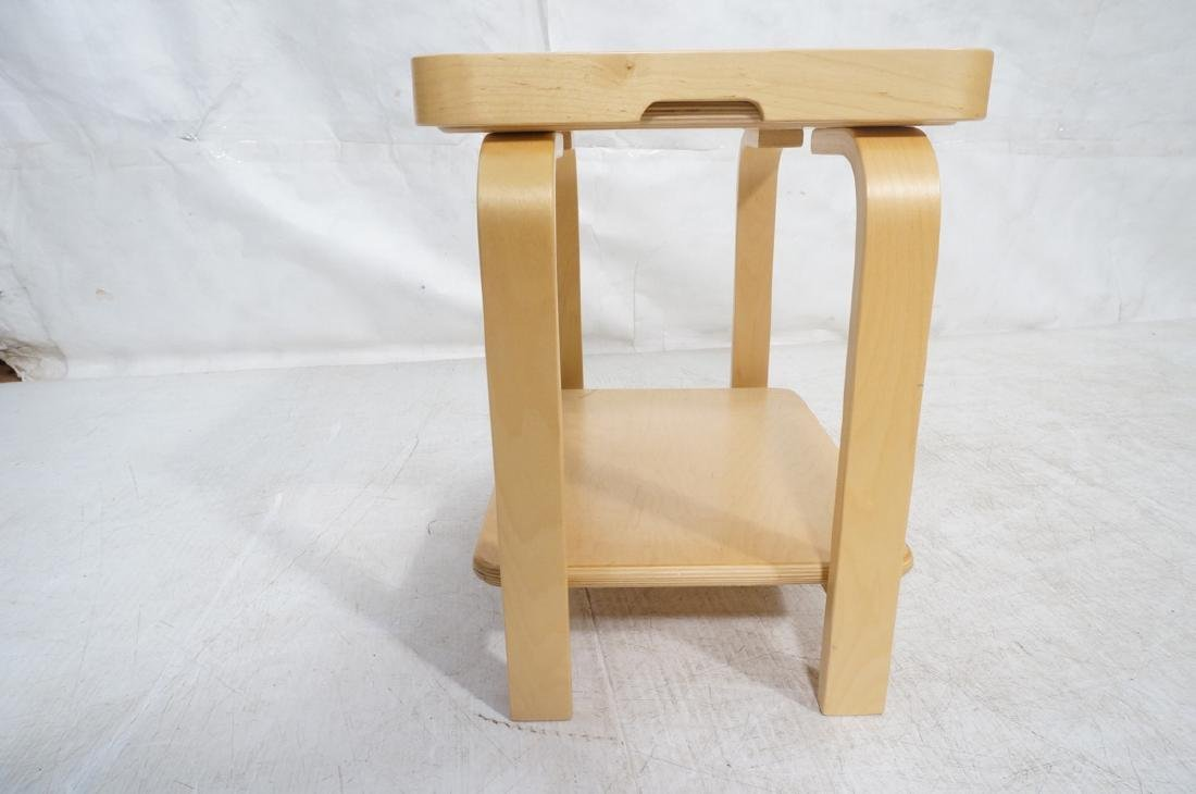 ALVAR AALTO Style Laminated Wood Rolling Cart. Tr - 3