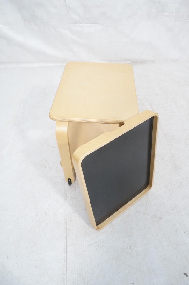 ALVAR AALTO Style Laminated Wood Rolling Cart. Tr - 7