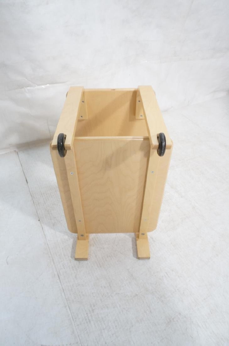 ALVAR AALTO Style Laminated Wood Rolling Cart. Tr - 8