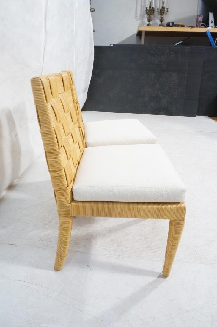 Pr DONGHIA Woven Rattan Modern Side Dining Chairs - 3