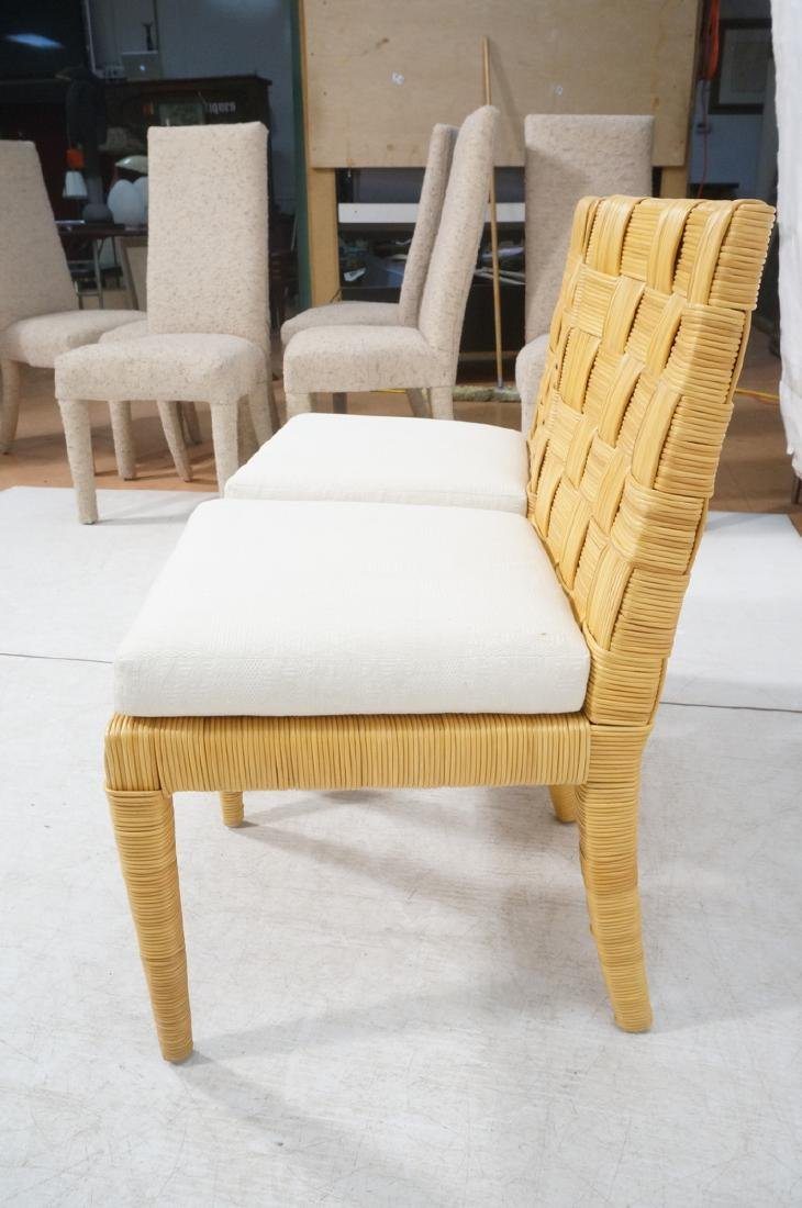 Pr DONGHIA Woven Rattan Modern Side Dining Chairs - 5