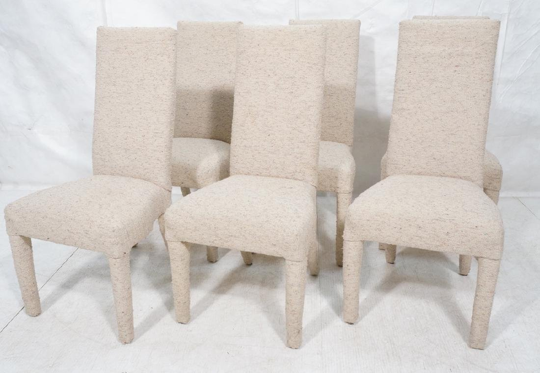 Set 6 Nubby Upholstered Dining Chairs. Fully upho