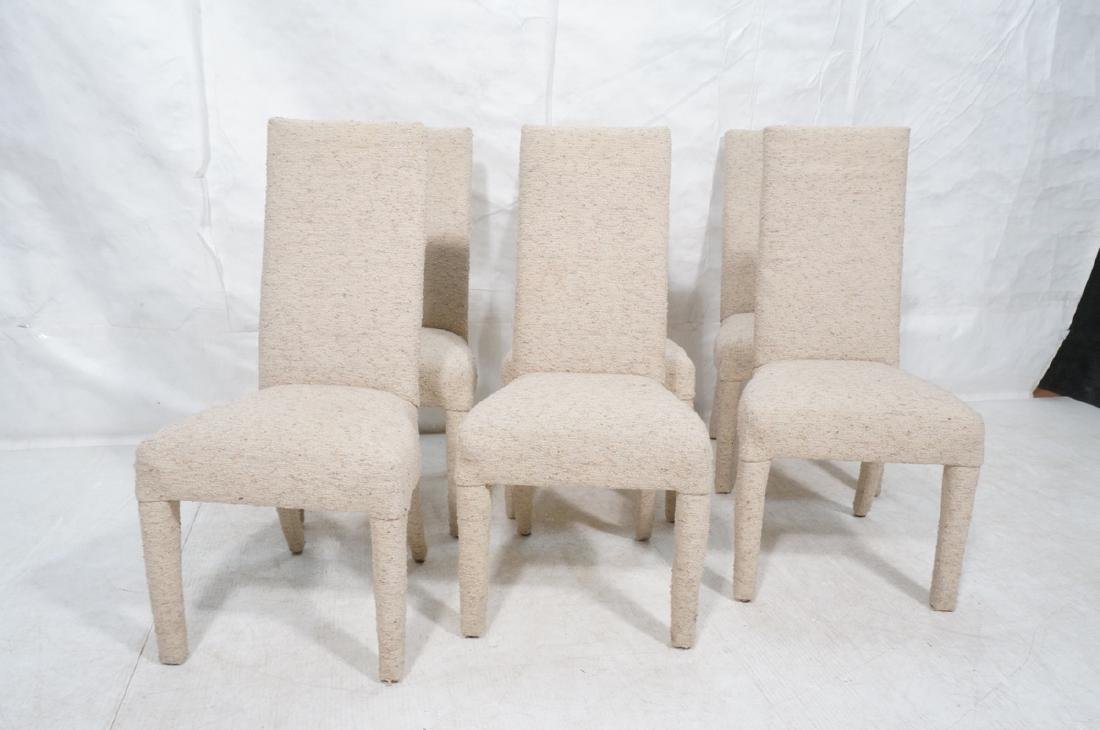 Set 6 Nubby Upholstered Dining Chairs. Fully upho - 2