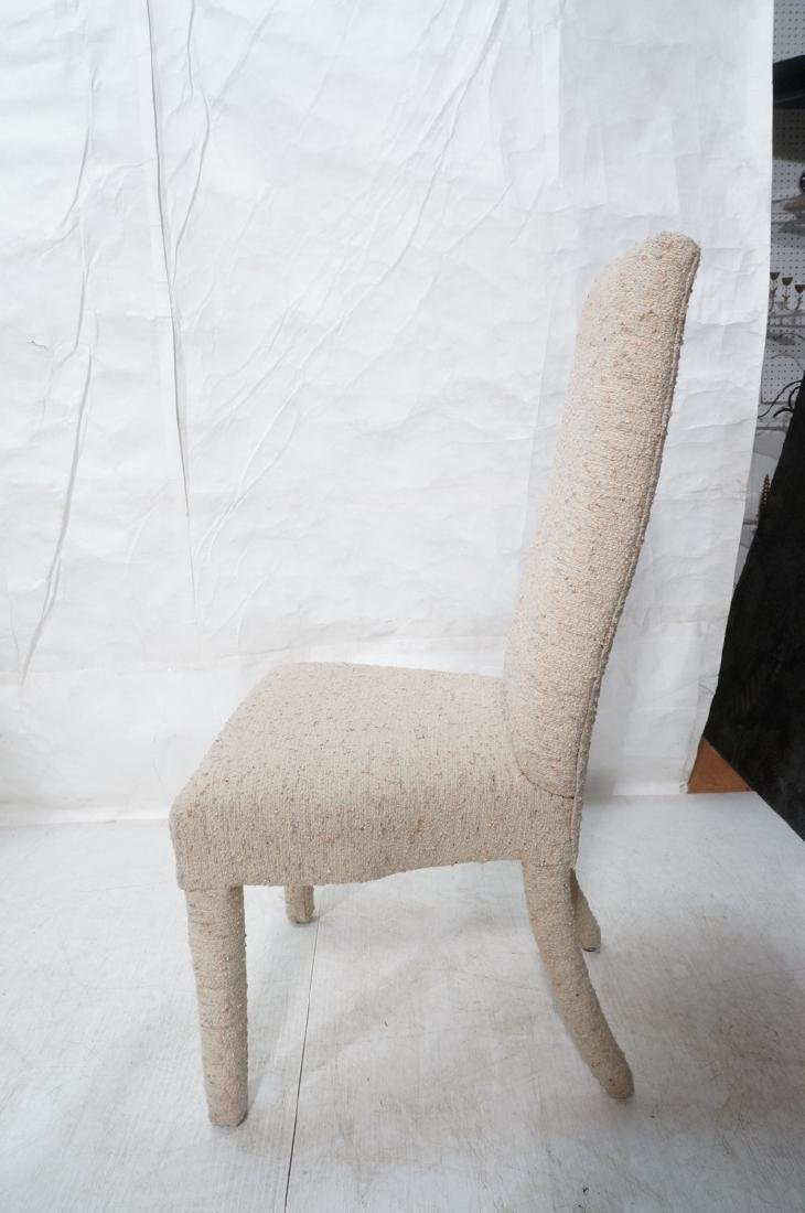 Set 6 Nubby Upholstered Dining Chairs. Fully upho - 6