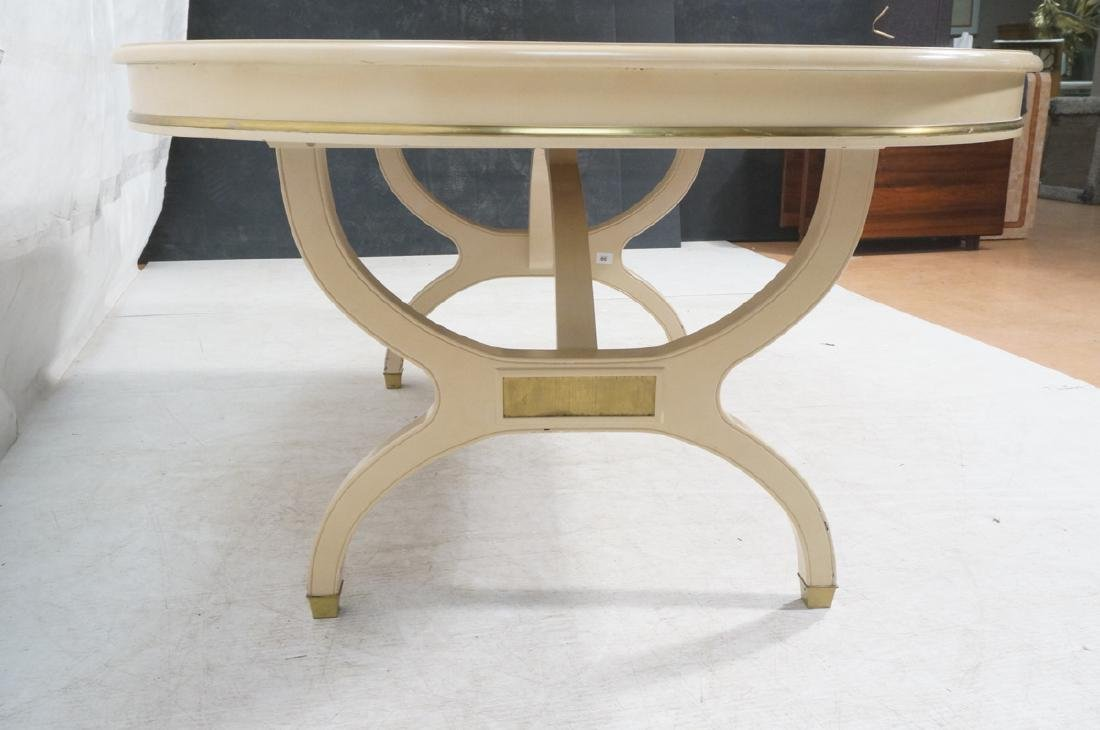 Champagne Lacquered Oval Modernist Dining Table. - 3